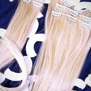 Blonde Halo Extension Clips NWT